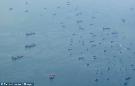 The 'ghost fleet' near Singapore. The world's ship owners and government economists would prefer you not to see this symbol of the depths of the plague still crippling the world's economies